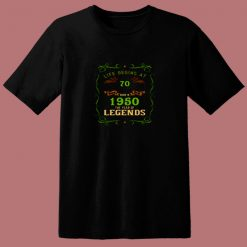 1950 Year Of The Legends Life Begins At 70 80s T Shirt