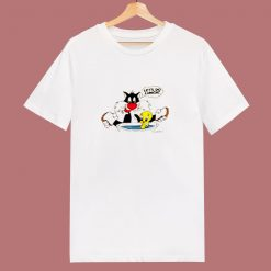 1988 Vintage Looney Tunes Lets Do Lunch 80s T Shirt