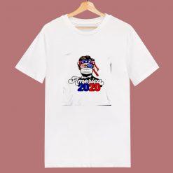 2020 America Usa Abraham Lincoln W Mask Keep Distance 80s T Shirt