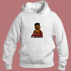 21 Savage Eating A Sandwich Aesthetic Hoodie Style