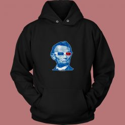Abraham Lincoln 3d Glasses 80s Hoodie