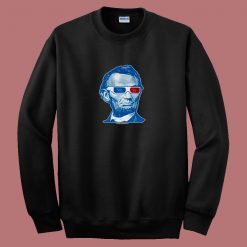 Abraham Lincoln 3d Glasses 80s Sweatshirt