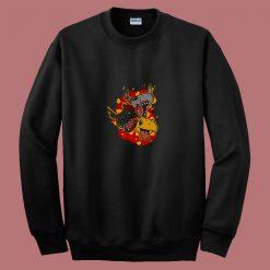 Agumon Evolution Digimon 80s Sweatshirt