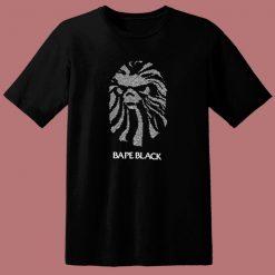 Black Bape Crystal Logo 80s T Shirt
