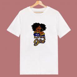 Black Girl Baltimore Ravens 80s T Shirt