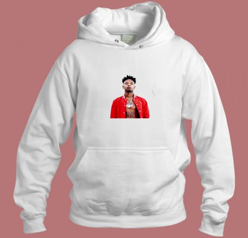 Buy Shipsfast 21 Savage White Aesthetic Hoodie Style