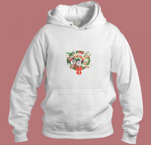 Disney Mickey Mouse Holiday Friends Aesthetic Hoodie Style
