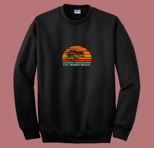 Im A Wildlife Warrior 80s Sweatshirt