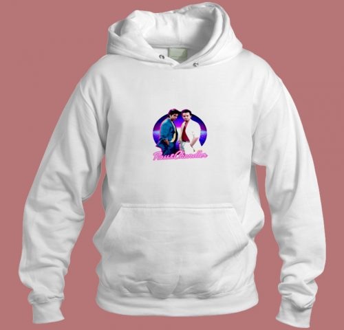Ross And Chandler Friends Retro Aesthetic Hoodie Style
