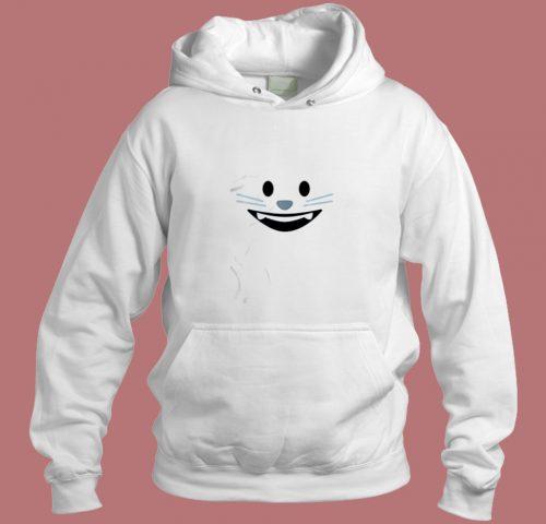 Smiling Cat Emoji Aesthetic Hoodie Style