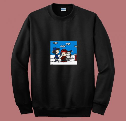 Snoopy Peanuts Santa Claus Christmas Cartoon 80s Sweatshirt