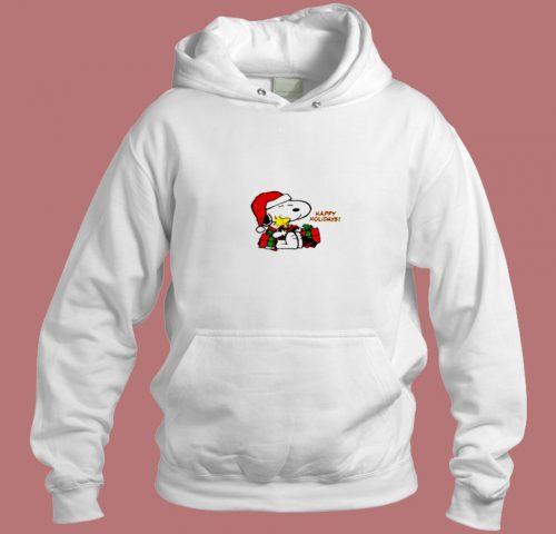 Snoopy Woodstock Peanuts Tee Happy Holidays Aesthetic Hoodie Style