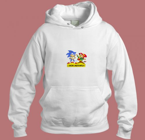 Sonic The Hedgehog I Won Instantly Aesthetic Hoodie Style