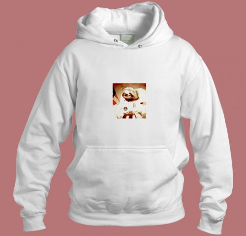 Space Sloth Astronaut Aesthetic Hoodie Style
