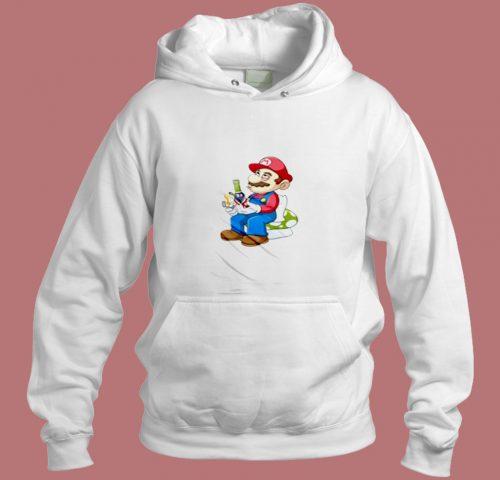 Super Mario Smoking Aesthetic Hoodie Style