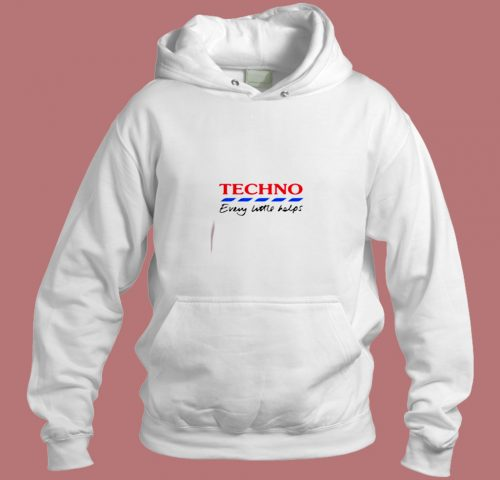 Techno Every Little Helps Aesthetic Hoodie Style