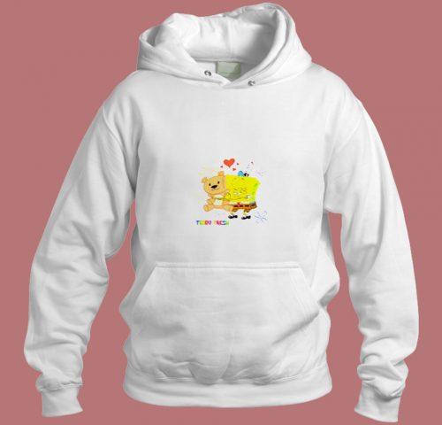 Teddy Fresh X Spongebob Fun Action Aesthetic Hoodie Style