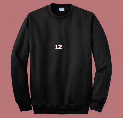 The Goat 12 New England Fan Football Qb 80s Sweatshirt