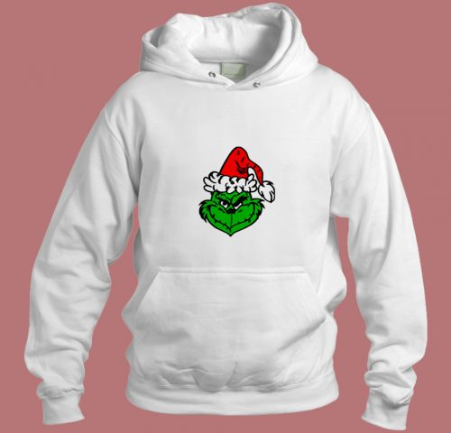 The Grinch Face Aesthetic Hoodie Style