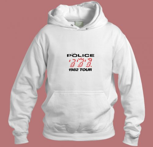 The Police 1982 Tour Vintage Unisex Aesthetic Hoodie Style