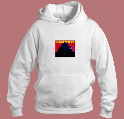 The Weeknd Starboy Album Cover Aesthetic Hoodie Style