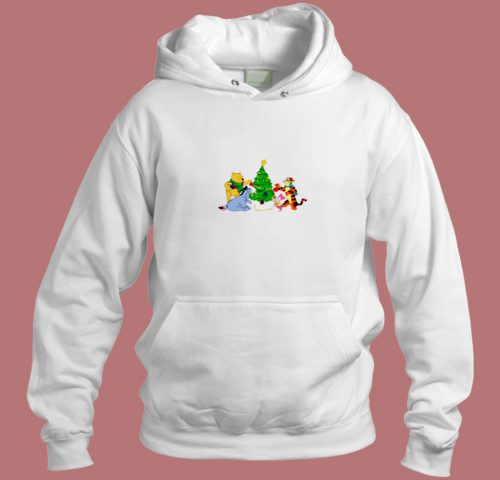 Tiger Piglet And Pooh Friends Christmas Aesthetic Hoodie Style