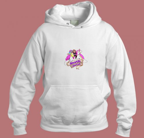 Toki And Dr Rockzo Riding Unicorn Death Metal Aesthetic Hoodie Style