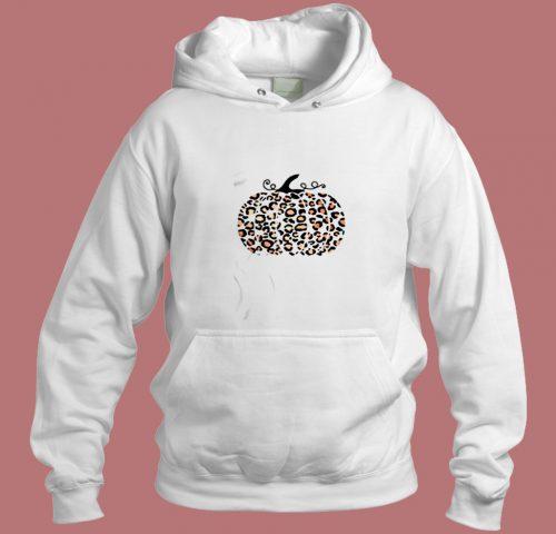 Trendy Leopard Pumpkin Aesthetic Hoodie Style