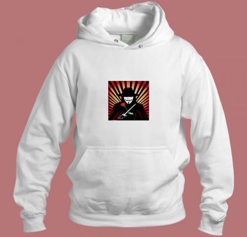 V For Vendetta Movie Guy Fawkes Aesthetic Hoodie Style