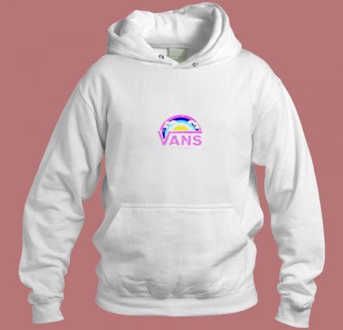 Vans Off The Wall Rainbow Palms Aesthetic Hoodie Style