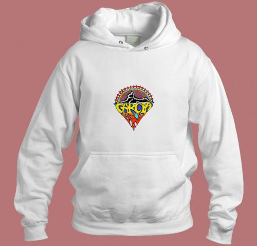 Vintage 1991 Jerry Garcia Band Tour Concert Aesthetic Hoodie Style