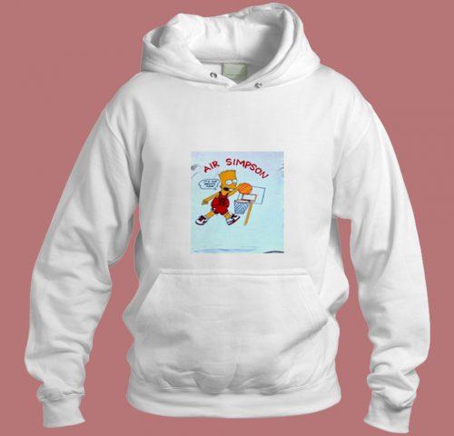 Vintage 90s Bootleg Bart Air Simpson Aesthetic Hoodie Style