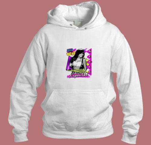 Vintage 90s Kelly Kapowski Save By The Bell Aesthetic Hoodie Style
