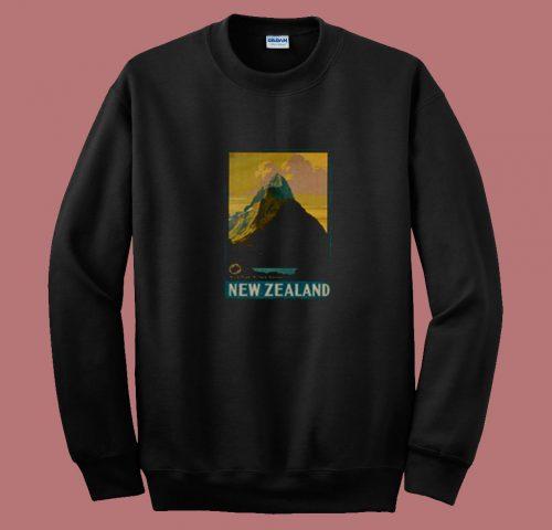 Vintage New Zealand Mitre Peak Mountain 80s Sweatshirt