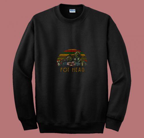 Vintage Pod Head Succulent 80s Sweatshirt