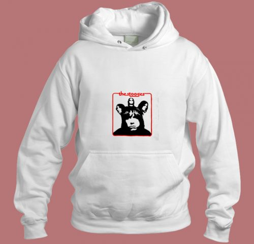 Vintage The Stooges Iggy Pop Rock Band Aesthetic Hoodie Style