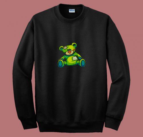 Vintage Torn Colorful Teddy Bear 80s Sweatshirt