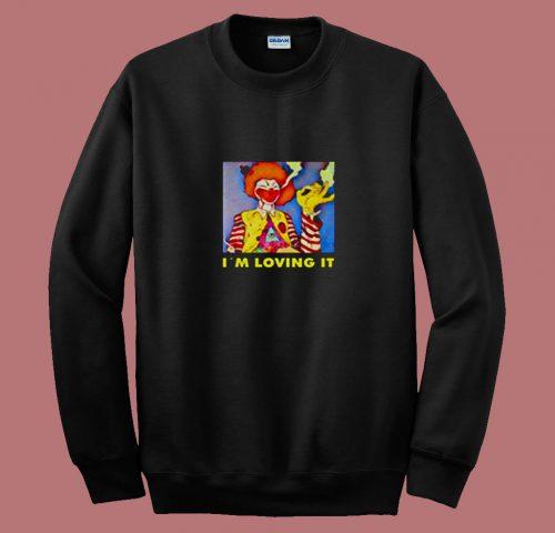 Weed Smoking Clown 80s Sweatshirt