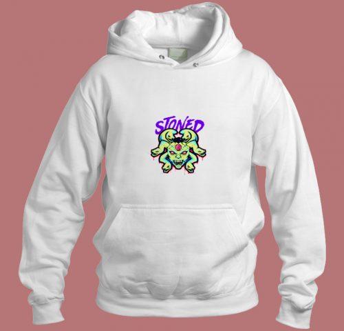 White Stoned Medusa Aesthetic Hoodie Style
