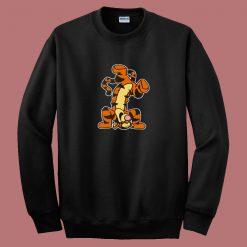Winnie The Pooh Actio Tigger Cartoon 80s Sweatshirt