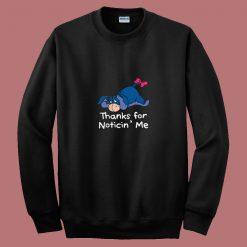 Winnie The Pooh Eeyore Quote 80s Sweatshirt