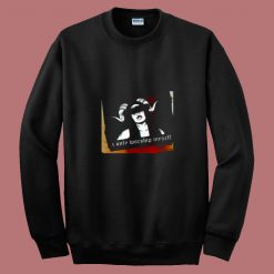 Women I Only Worship Myself 80s Sweatshirt