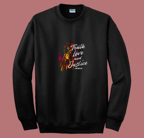 Wonder Woman Truth Love And Justice 80s Sweatshirt