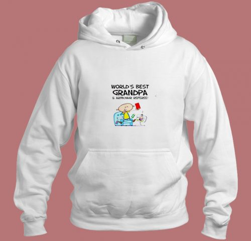Worlds Best Grandpa And Armchair Referee Aesthetic Hoodie Style