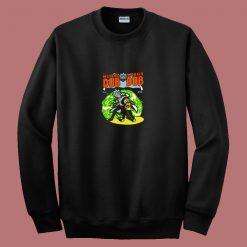 Wubba Lubba Batman Robin Comic Parody 80s Sweatshirt