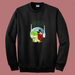 Yoda And Mickey Mouse Sw Christmas 80s Sweatshirt
