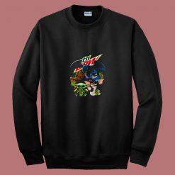 Yoda Baby Groot And Toothless Stitch Gizmo 80s Sweatshirt