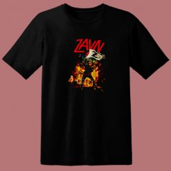 Zayn Malik Zombies Slayer Flag 80s T Shirt