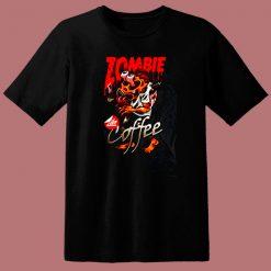 Zombie Coffee 80s T Shirt