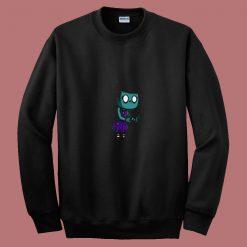 Zombie Girl Cartoon 80s Sweatshirt